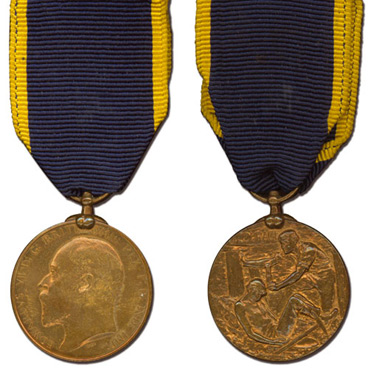 King Edward Medal (Mines) 2nd Class, Bronze awarded to Alfred Tonge