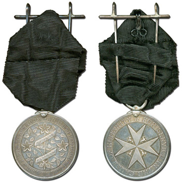 Life saving Medal of the Order of St John in Silver awarded to Alfred Tonge