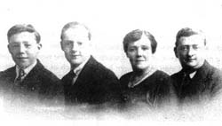 Left to right: James (Rachael's great-grandfather), John, Mariah and Joseph circa 1910
