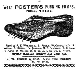 An early ad depicting the revolutionary shoe, it is easy to see why they were in such high demand