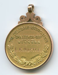 Hartle FA Cup Winners medal 1958 name