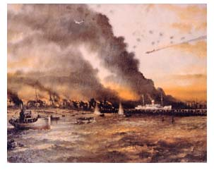 Dunkirk evacuation painting