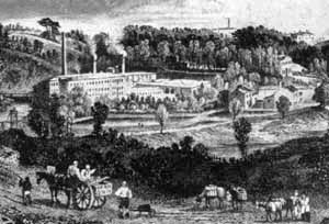Farnworth Paper Mills, from an early engraving