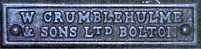 Crumblehulme makers plate