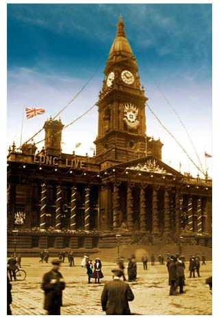 Bolton Town Hall - Coronation day 1911